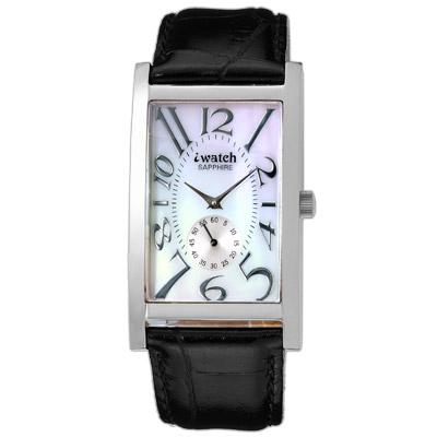 iwatch 鈦鍺能量都會時尚健康腕錶(白貝殼面)