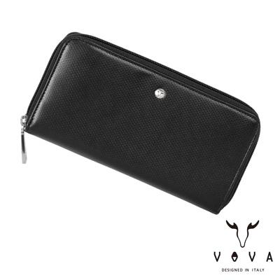 VOVA-BRICK-布瑞克系列11卡磚紋拉鍊長夾