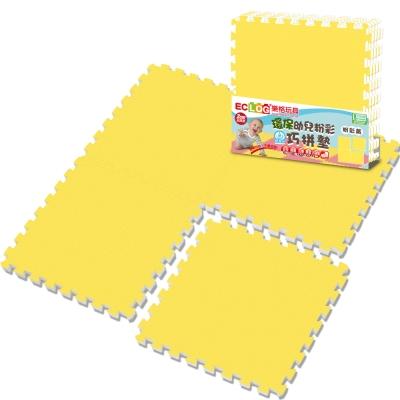 LOG樂格 粉彩環保巧拼墊 -小鴨黃