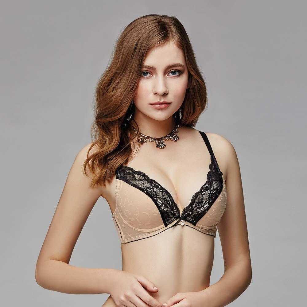 La Felino-魚雁傳情無縫泡棉款B-E罩杯內衣(裸膚)