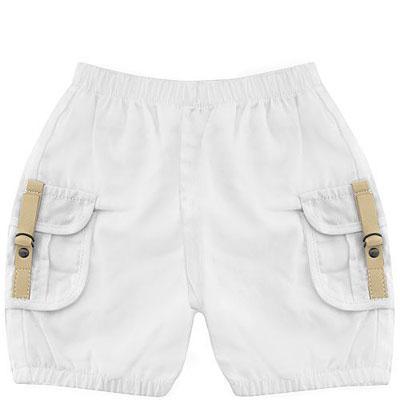 BURBERRY 英國倫敦純棉幼兒短褲(3 MONT/白色)