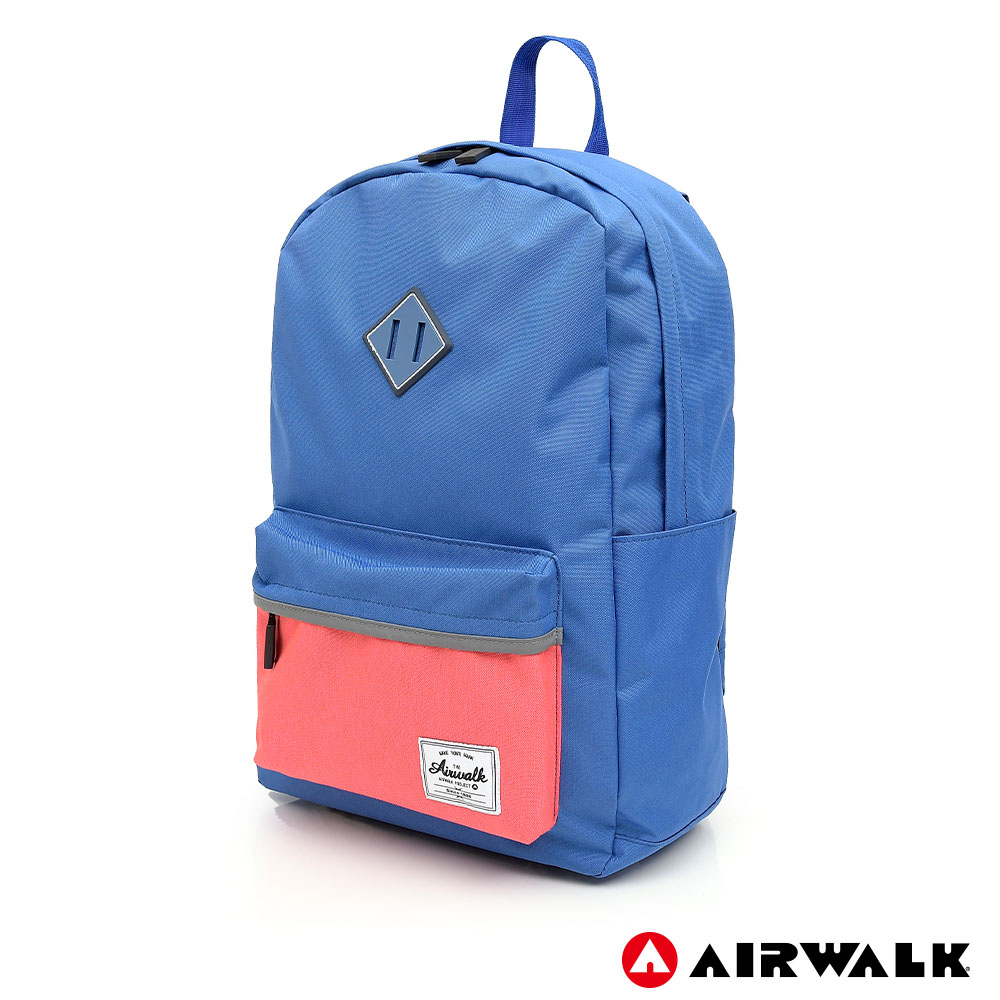 【AIRWALK】經典撞色豬鼻後背包-中藍