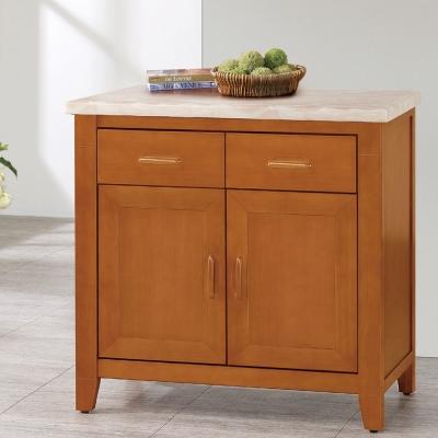 品家居 威爾森2.8尺石面餐櫃-85x45.5x82cm-免組