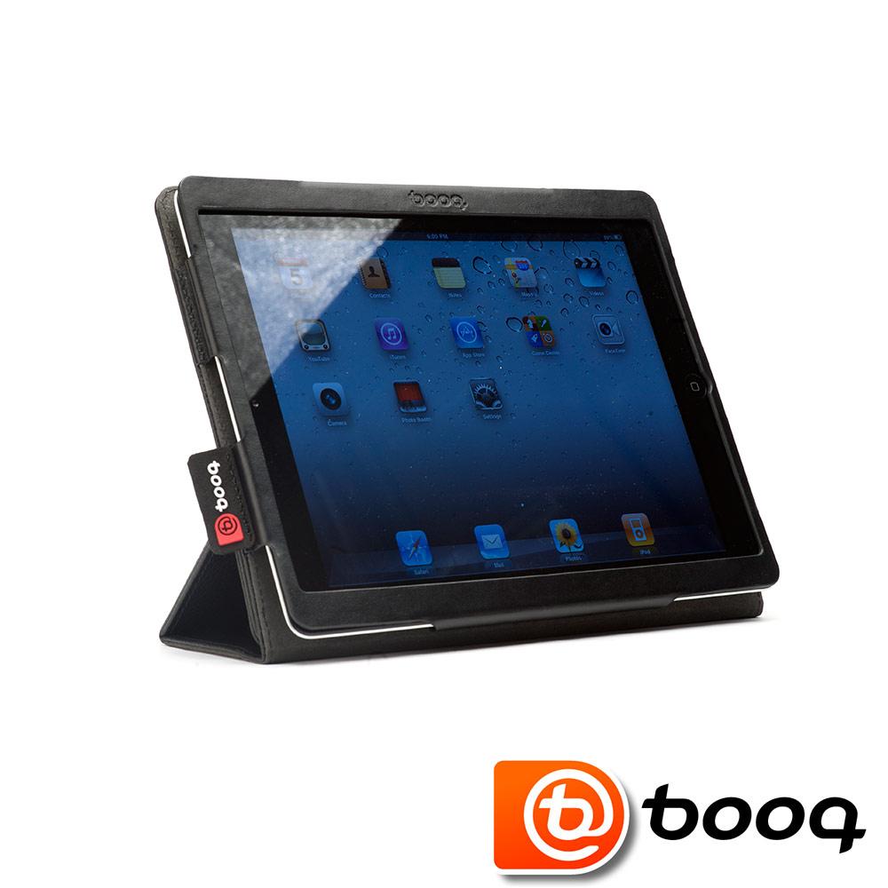 Booq Folio iPad 2 / New iPad 真皮典雅立架保護套 (黑石)