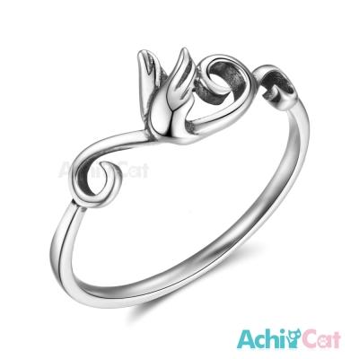 AchiCat 925純銀戒指尾戒 精靈的祝福