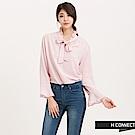 H:CONNECT 韓國品牌 女裝 - 浪漫荷葉綁帶襯衫 - 粉