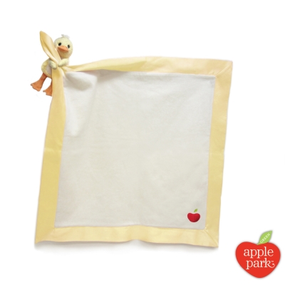 【美國 Apple Park】有機棉玩偶隨身毯 - 小鴨