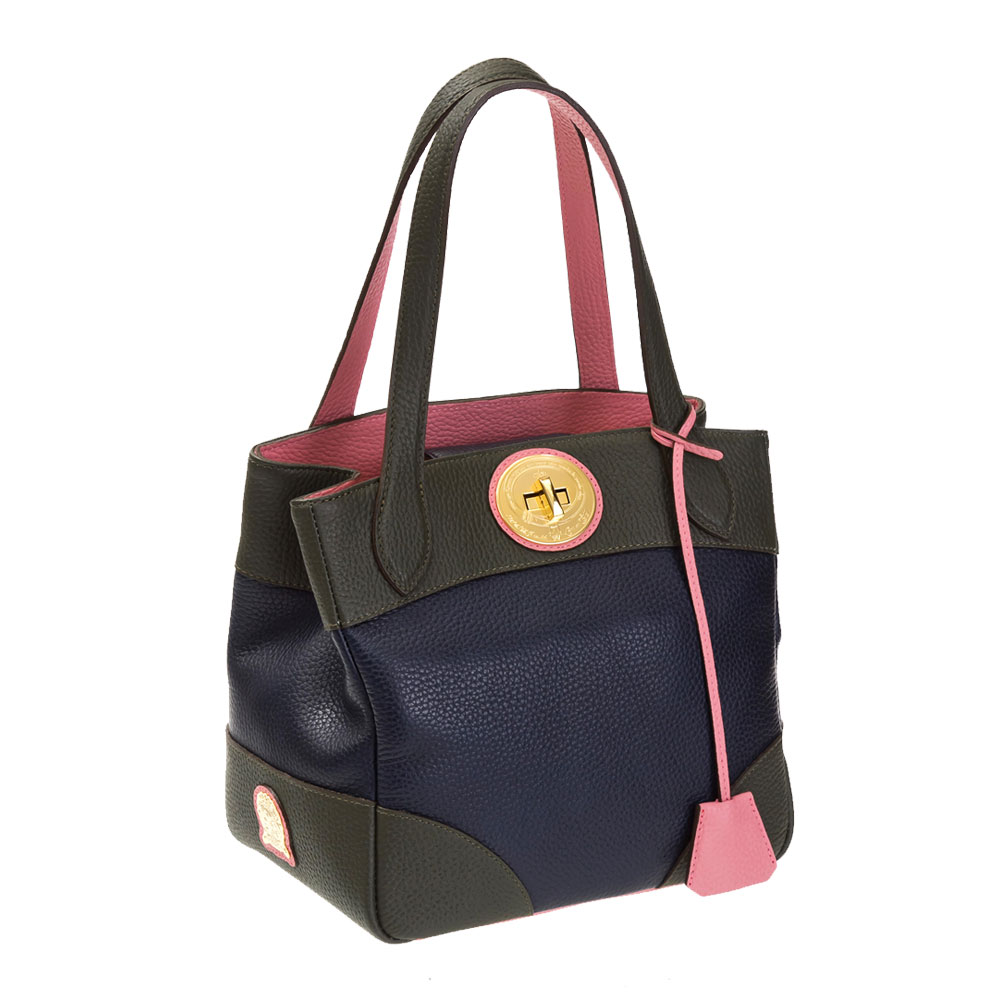 A.D.M.J. DOUBLE COLOR VERA-TOTE (NAVY)