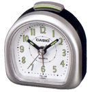 CASIO 夜光指針桌上型鬧鐘(TQ-148-8)-銀色