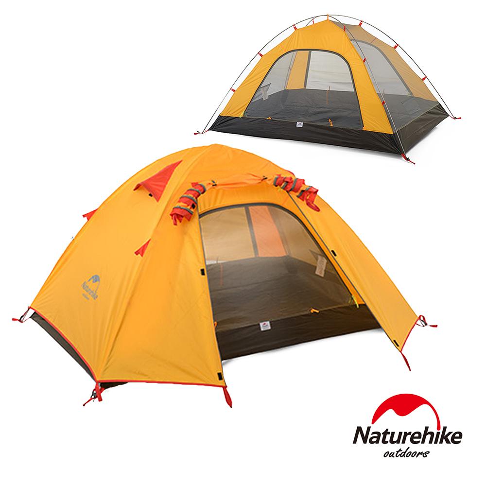 Naturehike超輕量透氣雙層3人帳篷 橙色-急