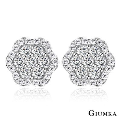 GIUMKA純銀針式耳環 祕密花園耳釘-銀色