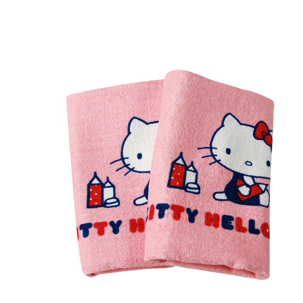 Sanrio三麗鷗授權Hello Kitty凱蒂貓系列-凱蒂貓畫畫童巾(單條)