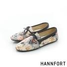 HANNFORT FLEX360緹花織紋平底鞋-女-雲彩黃