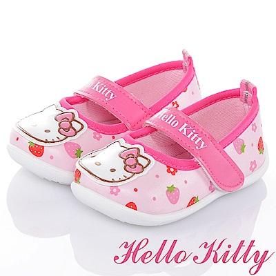 HelloKitty 草莓系列 舒適減壓抗菌防臭防滑娃娃童鞋-粉