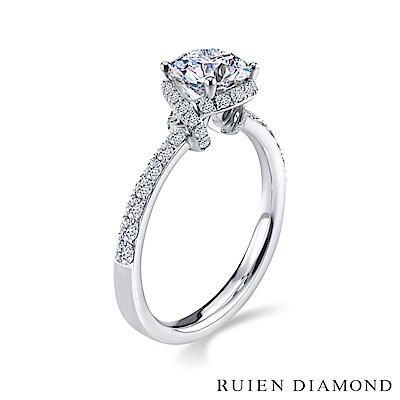 RUIEN DIAMOND GIA50分 D VVS1 3EX 18K白金 鑽石戒指