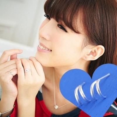 維克維娜 極簡品味。個性款簡約半弧造型 925純銀耳環