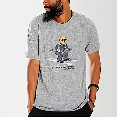 Polo Rlaph Lauren 年度限定熱銷刺泰迪熊系列短袖T恤-灰色