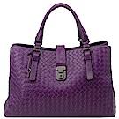 BOTTEGA VENETA  Roma woven lock 手提編織托特包(紫色)