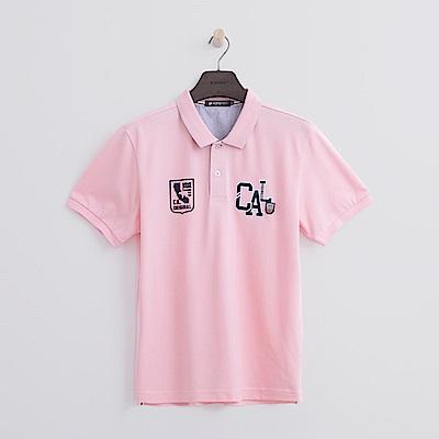 Hang Ten - 男裝 - CAL繡章POLO-粉紅色