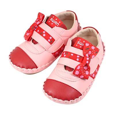 Swan天鵝童鞋-小櫻桃雙色休閒學步鞋 1551-紅