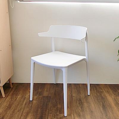 Amos-U型靠背塑膠休閒椅(44x44x75)