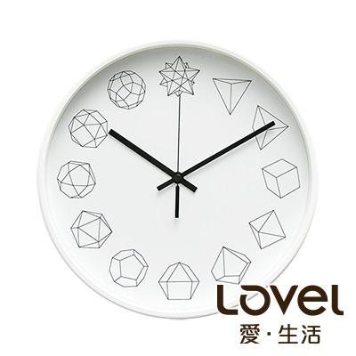 Lovel 30cm 幾何金屬框靜音時鐘-共3款