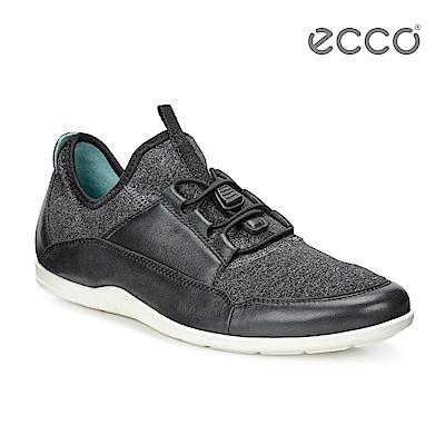 ECCO BLUMA 快速扣簡約輕便休閒鞋-黑