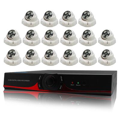 奇巧 16路AHD高清監控套組(雙模SONY四陣列燈130萬攝影機x16)