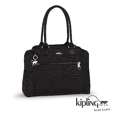 Kipling 手提包 時尚黑波浪紋