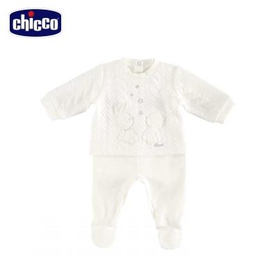 chicco典雅夾棉套裝 -米(3個月-12個月)