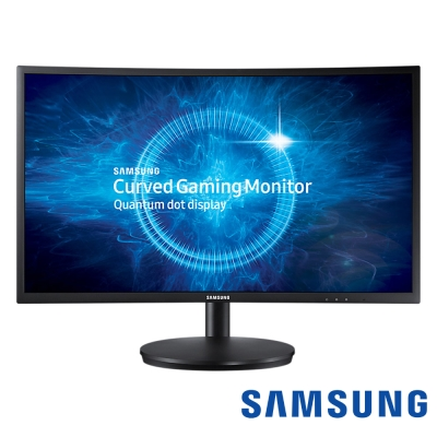 SAMSUNG C24FG70FQE 24型 VA 量子點曲面電競電腦螢幕