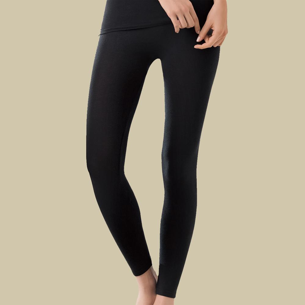 華歌爾 保暖一枚二役 M-L 保暖隨型褲(黑)-舒適-保暖發熱