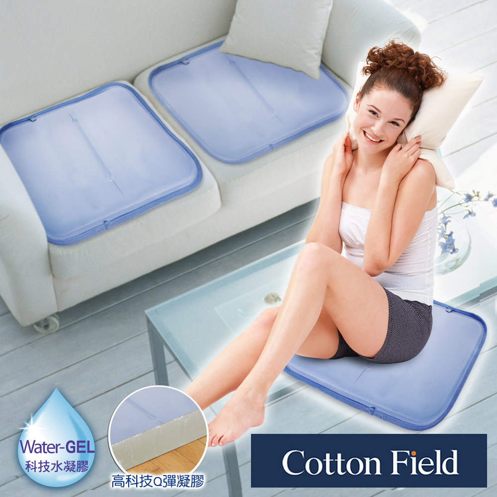 棉花田 雪之宿 低反發素色冷凝清涼坐墊(45x45cm)