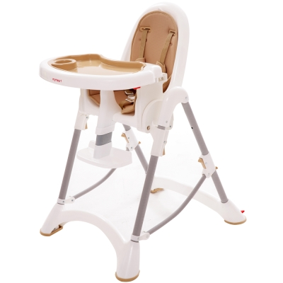 myheart 折疊式兒童安全餐椅 - 布朗咖