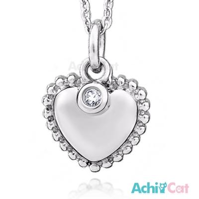 AchiCat 珠寶白鋼項鍊 高雅愛心