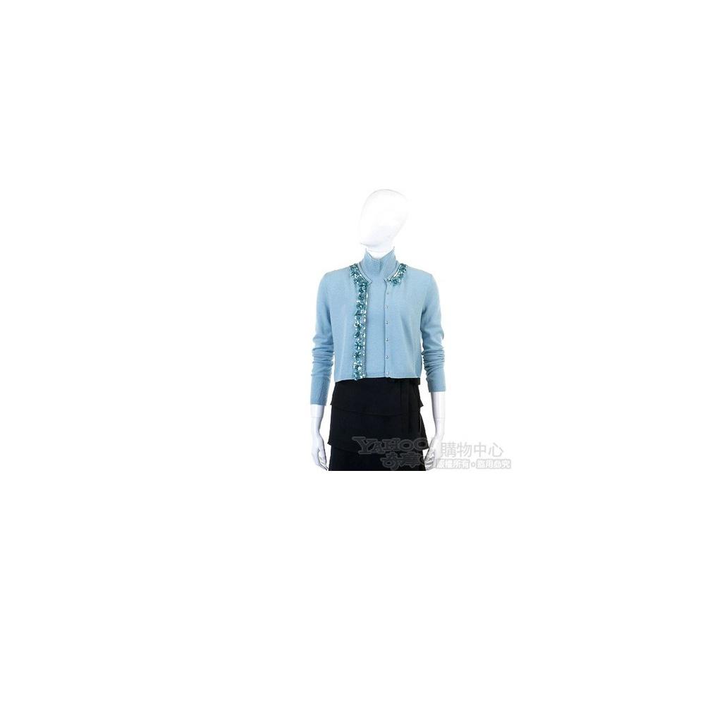 Blugirl 水藍色針織套頭兩件式上衣