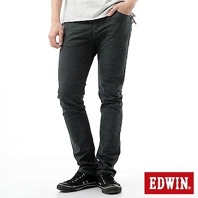 EDWIN 大尺碼EDGE迷彩提織後染窄直筒色褲-男-墨綠