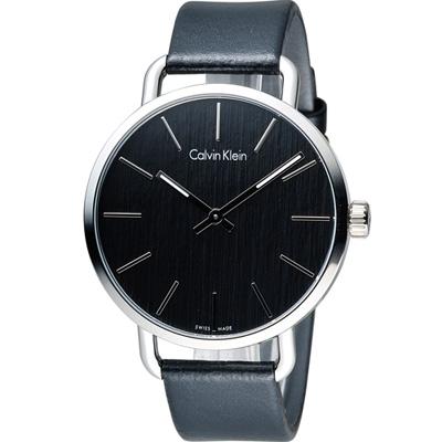 ck Calvin Klein K 7 B even 系列 頁岩自然風格時尚腕錶-黑/ 42 mm