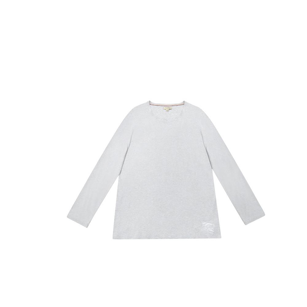 BURBERRY灰色長袖棉質男性T恤XL號