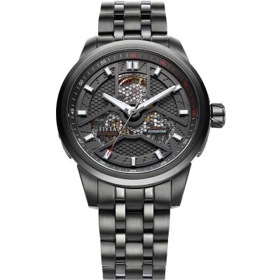 FIYTA 飛亞達 極限系列機械腕錶-黑-42mm