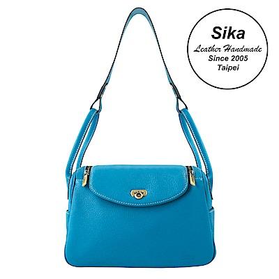 Sika義大利時尚肩背波士頓包L6184-5 土耳其藍