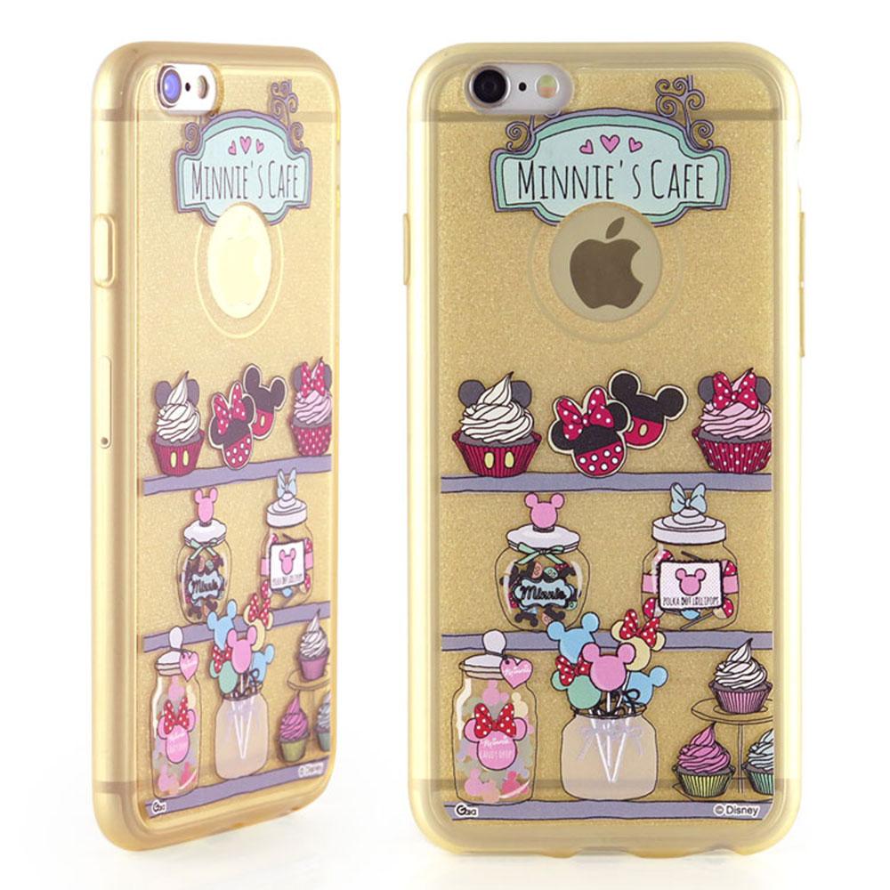 Disney iphone 6 plus /6s plus晶鑽閃粉手機殼-米妮系列