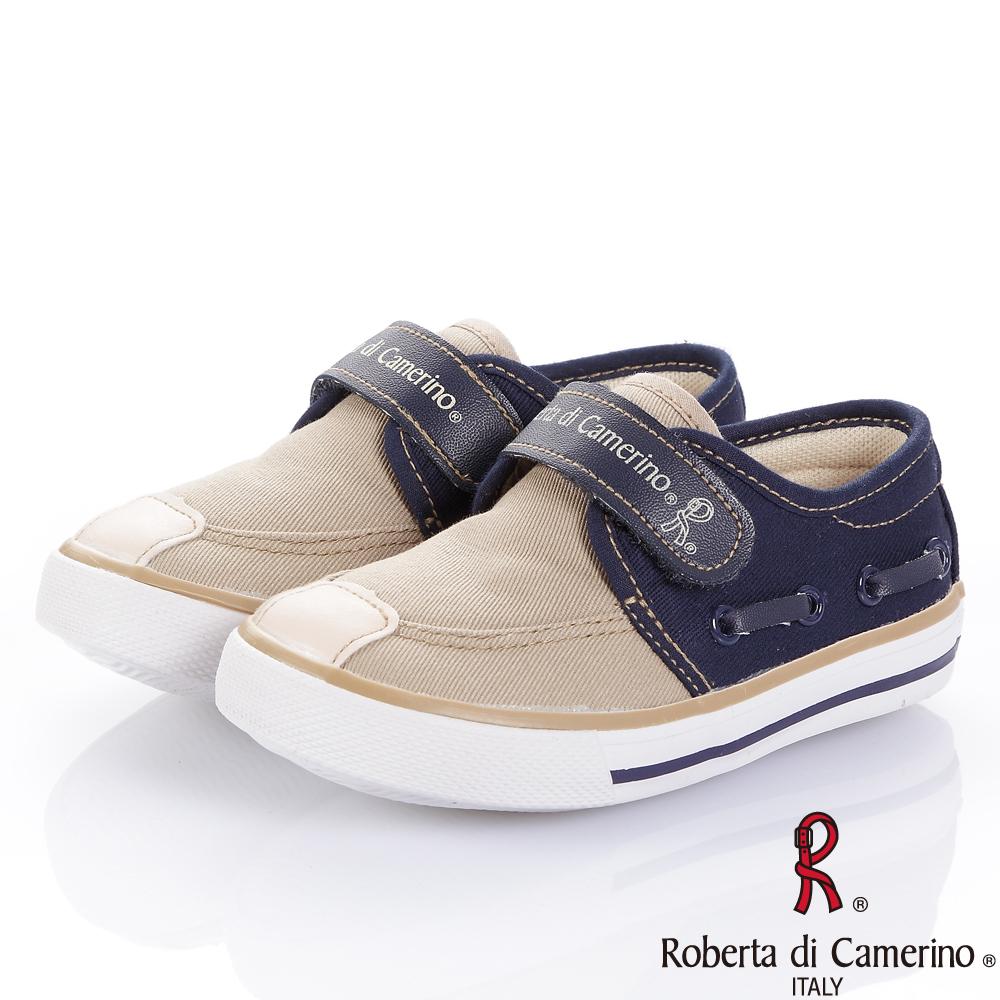 Roberta諾貝達 經典百搭舒適減壓帆布鞋-卡其(小童)