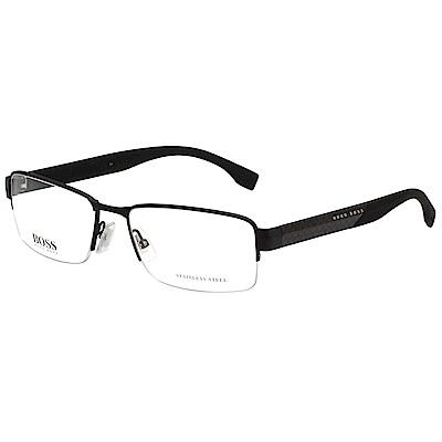 HUGO BOSS 半框 光學眼鏡 (黑色)BOSS0837