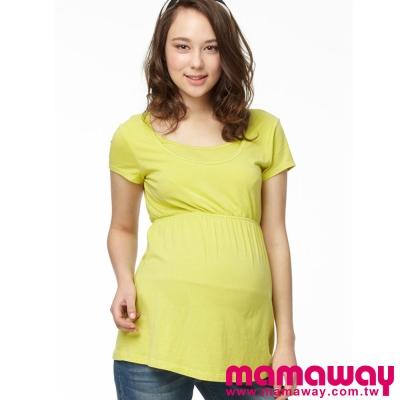 Mamaway-露背綁帶孕哺2用娃娃裝-共三色