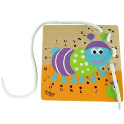 法國Boikido木製玩具-字母穿線板