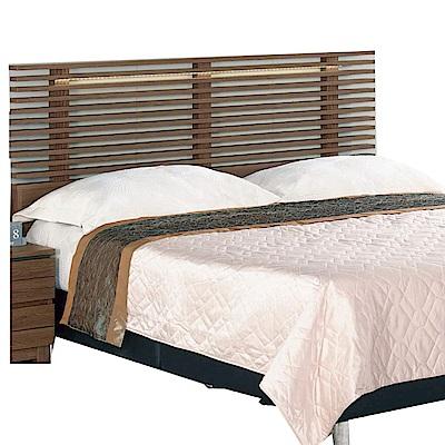 品家居 朵兒6尺木紋雙人加大床頭片(二色可選)-185x7.6x104.8cm免組