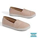 TOMS 純色斜紋帆布休閒鞋-女款