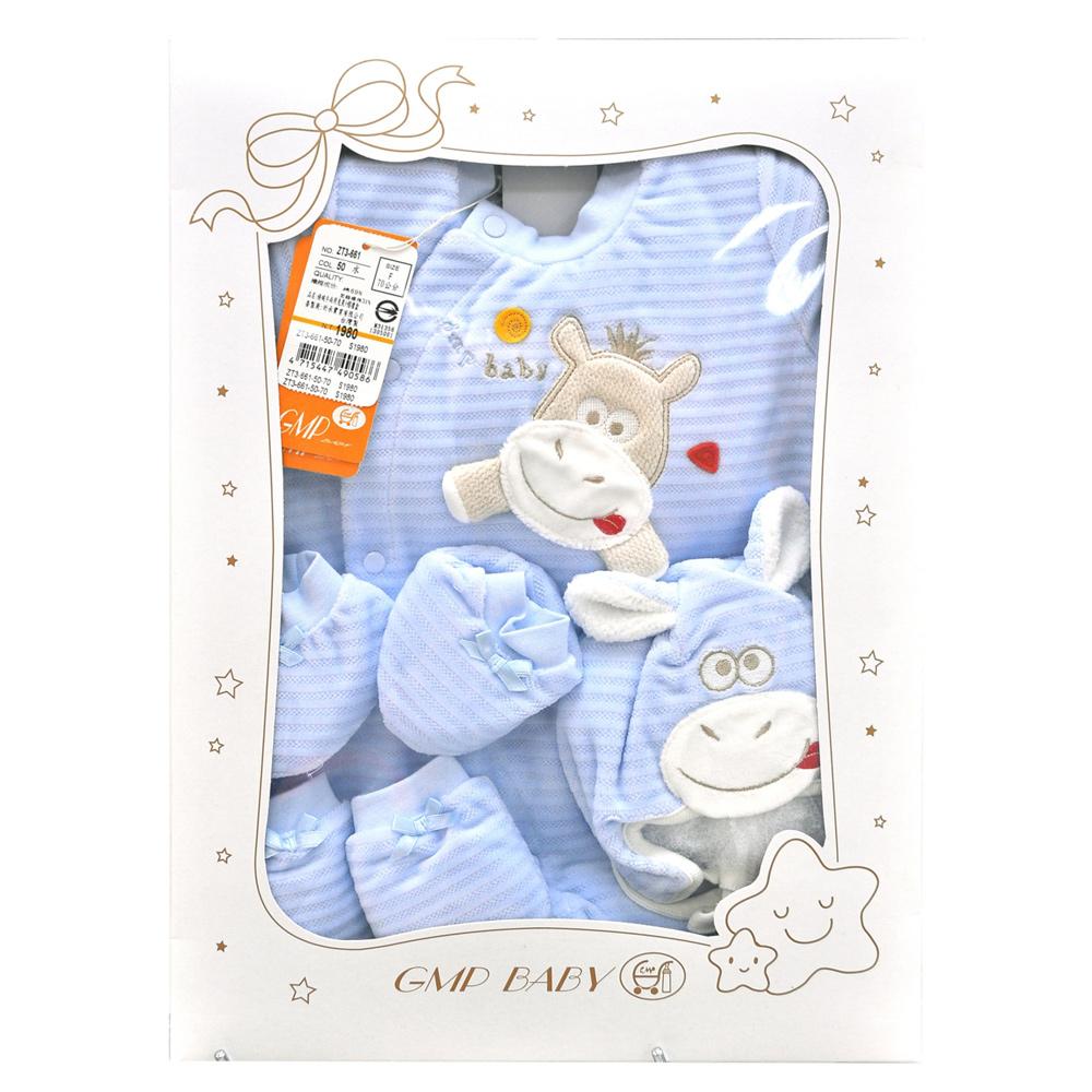 GMP BABY 條絨牛兩用兔裝+帽彌月禮盒1組