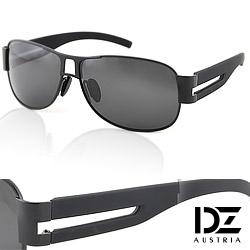 DZ 尊爵雅士 抗UV 偏光太陽眼鏡墨鏡(黑框灰片)